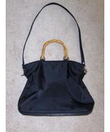 Evan Picone Satchel Black Shoulder Purse Handbag Tote Bag - $14.97