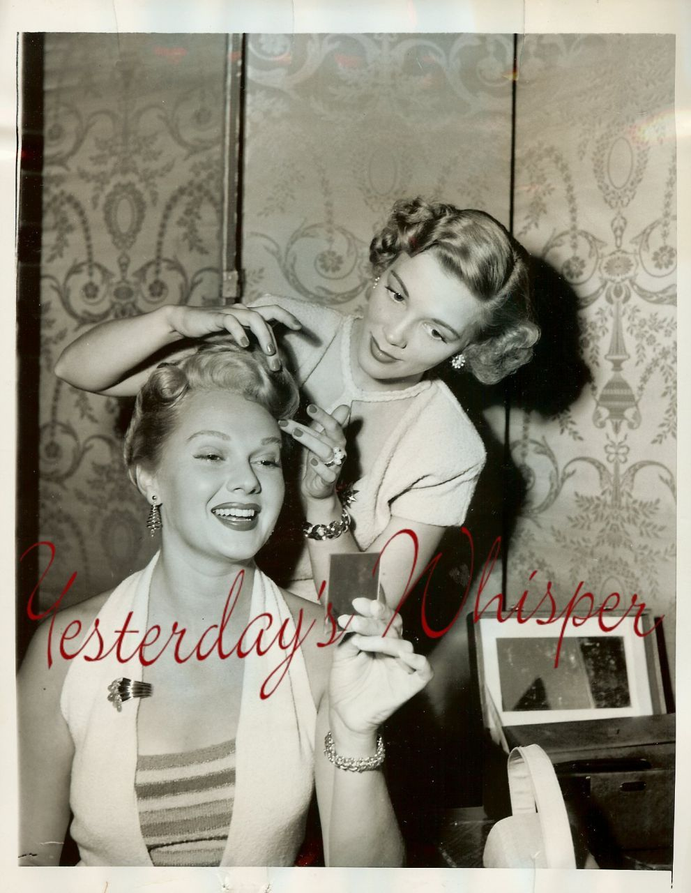 Vintage Adele Jergens Hair Stylist Nat Dallinger Photo
