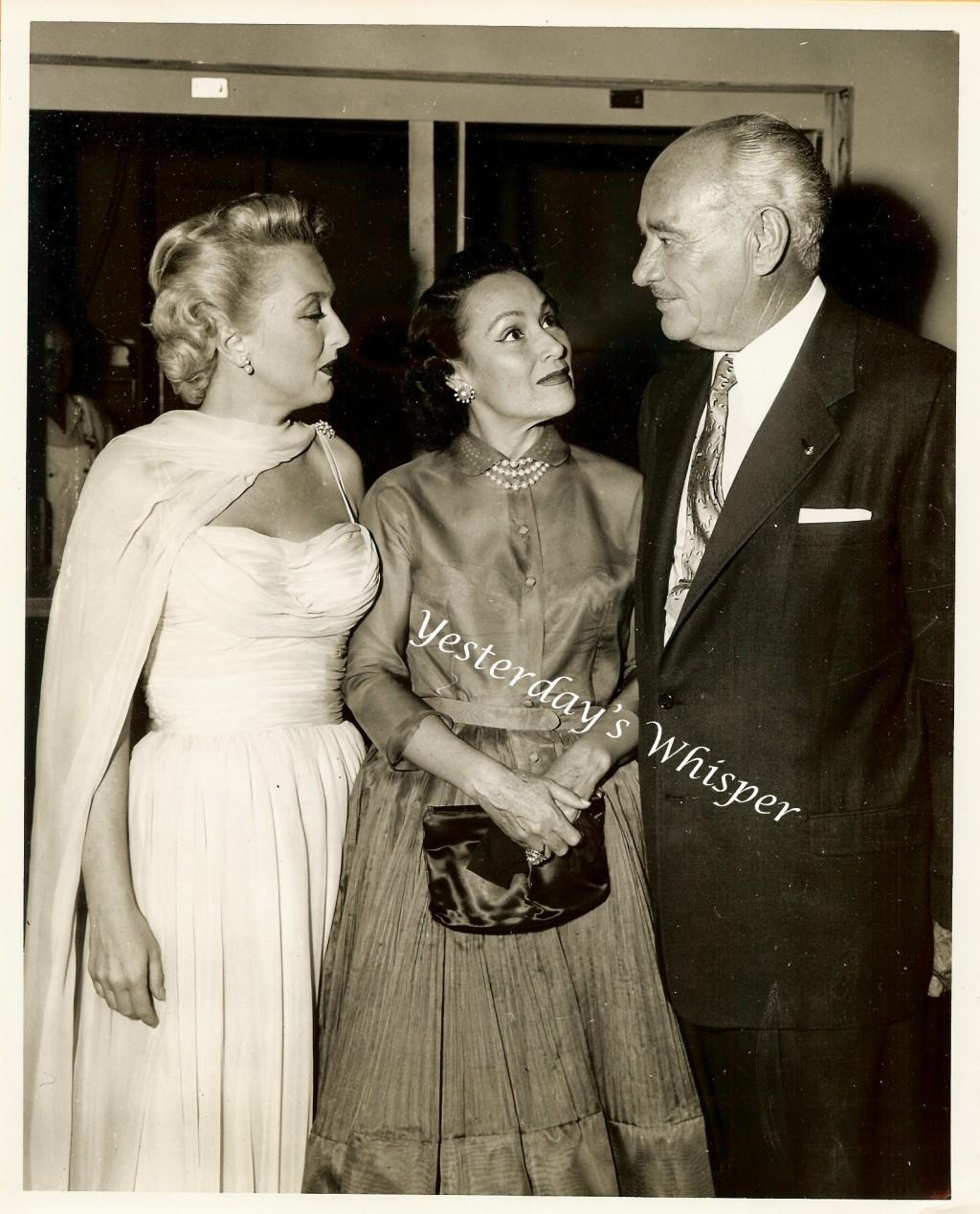 Vintage Conrad HILTON Dolores Del RIO c1955 Press Photo