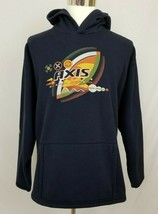 Busch Gardens Adult L Hoodie Sweatshirt Navy Blue AXIS Mens Womens - $17.99