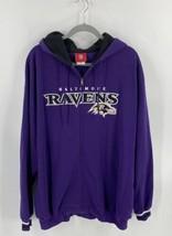 NFL Baltimore Ravens Mens Sweatshirt Hoodie Size XXL Purple Zip Up Football - $44.55