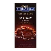 Ghirardelli Dark Bar Sea Salt Soiree Bars - Chocolate Intense - Case of 12 - 3.5 - $48.99