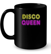Retro Vintage 70s 80s Neon Sign DISCO QUEEN Gift Gift Coffee Mug - $13.99+