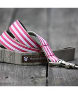 Mod Stripe Pink Grosgrain Dog Leash (120cm, 4ft.) / Made in Japan - $36.00