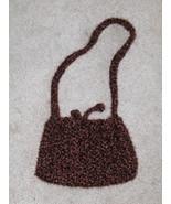Chocolate Sparkle Crochet Cinch Purse - $6.97