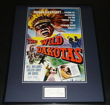 Coleen Gray Signed Framed 16x20 Photo Poster Display The Wild Dakotas - $65.09