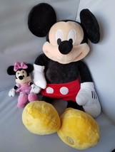 Disney Large Mickey Mouse Plush Toy Stuffed Animal +FREE Minnie Mouse Pi... - $20.30