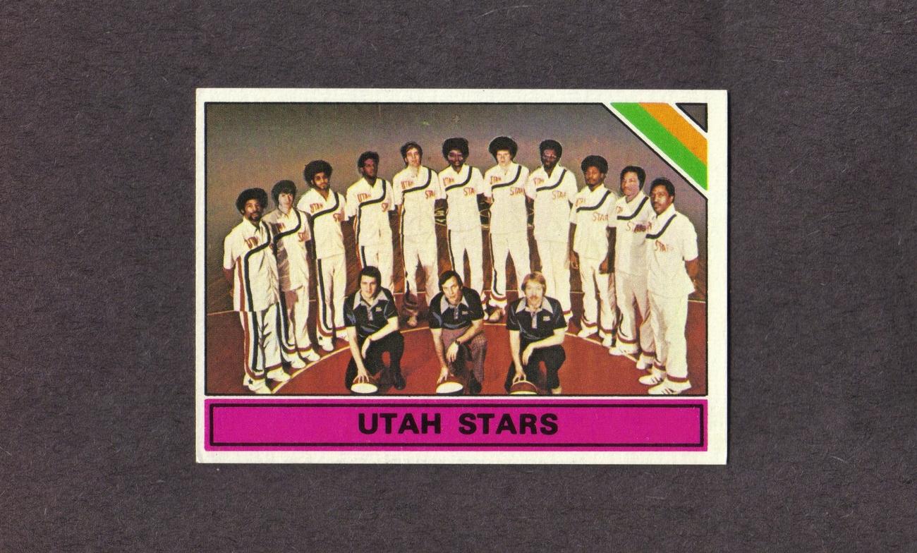 1975-76 Topps # 329 Utah Stars Team Card NM ABA