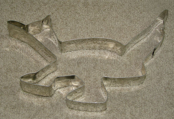 4 Large Southwestern Metal Cookie Cutters Cactus Coyote