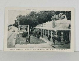Gulfport Mississippi ANGELO'S RESTAURANT Facing the Gulf on U.S. 90 Post... - $12.95