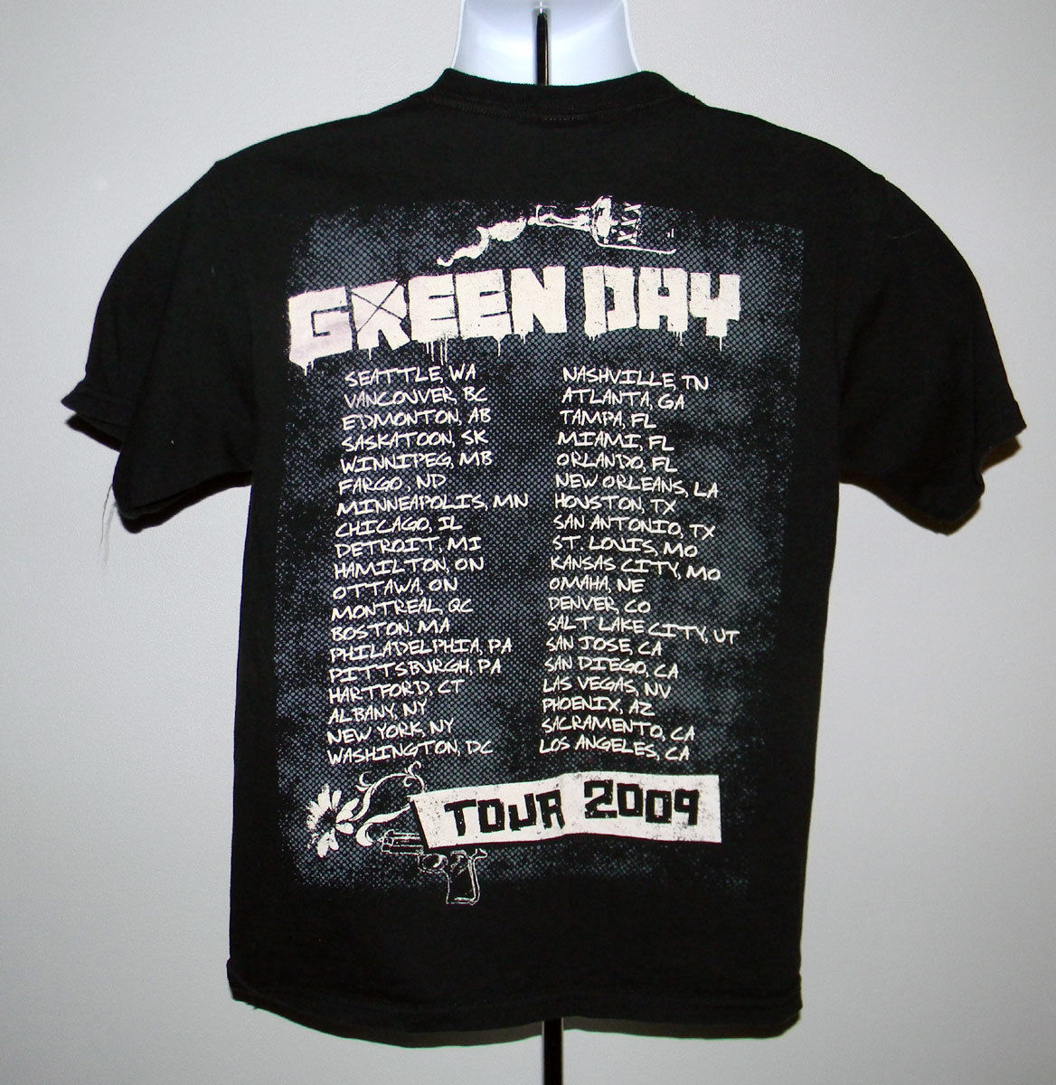 MENS GREEN DAY 2009 TOUR T SHIRT MEDIUM PUNK ROCK BAND