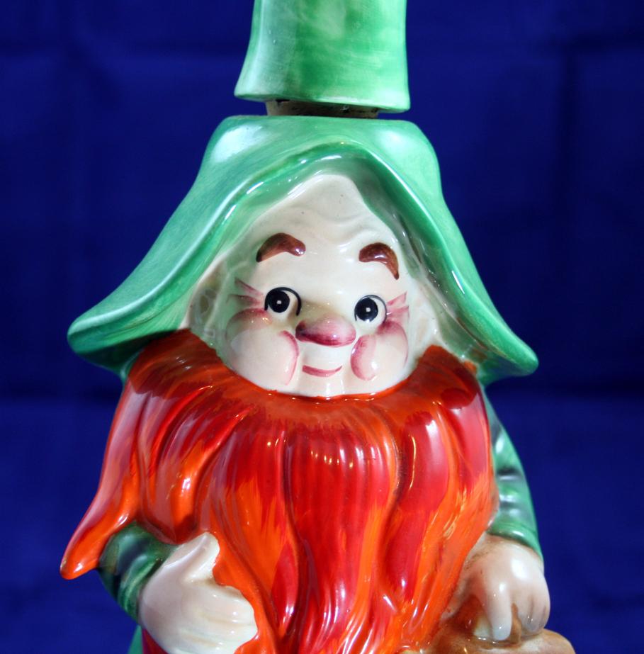 Gnome Leprechan Decanter with Music box - Ireland