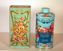 California Perfume 1977 Excellent condition Powder Tin - $3.59