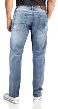 CS Men's Skinny Slim Fit Zip Fly Vintage Faded Wash Premium Denim Jeans image 3