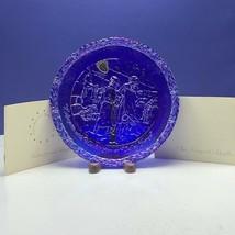 Fenton Bicentennial collectors plate carnival art glass Lafayette Washin... - $49.45