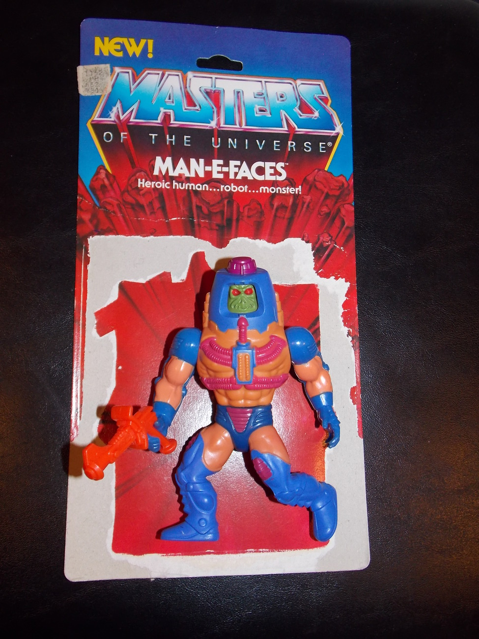 Primary image for Vintage 1982 Masters Of The Universe Man-E-Faces Figure Complete With Cardback