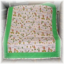 Pebbles & Bam Bam OOP Vintage Fabric Baby/Toddler Quilt - $25.99