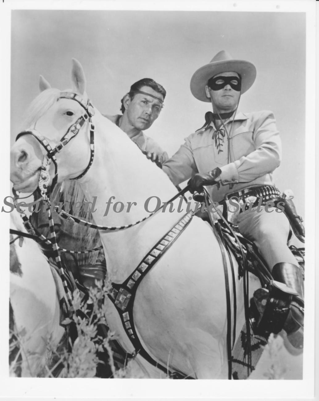 Lone Ranger Tonto on Scout and Silver 8x10 Photo