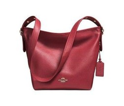 NWT Coach Red Polished Pebble Leather Dufflette... - $185.00