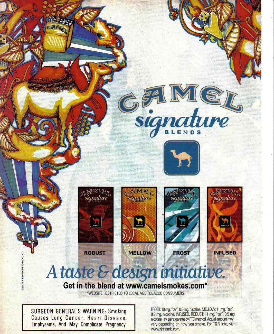 Camel Signature Blends Full Page Original Color Print Ad From 2002 Very Good - $3.50