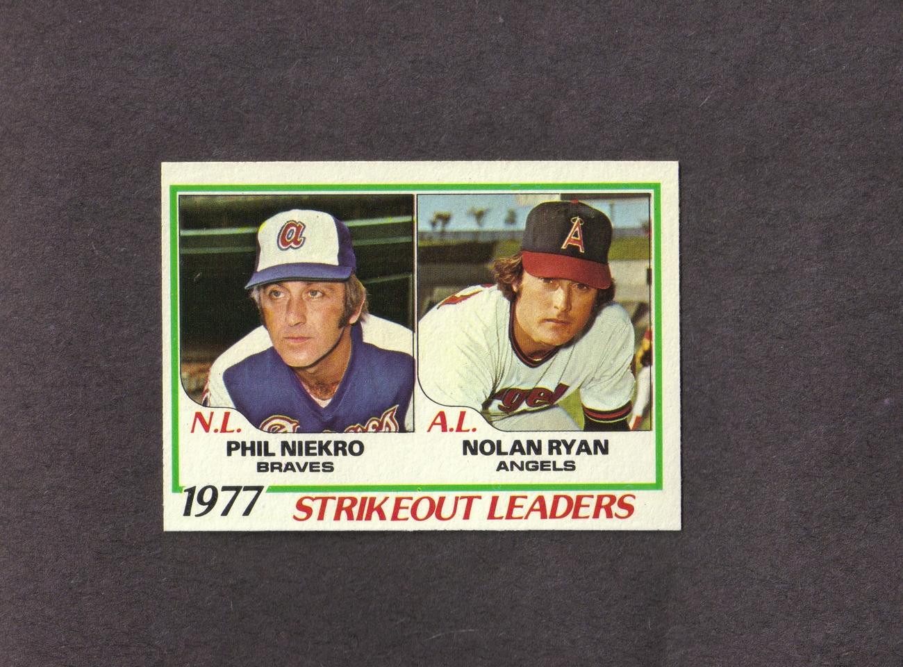 1978 Topps # 206 Nolan Ryan Phil Niekro