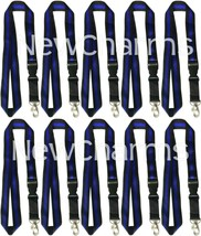 10 LANYARDS w/Detachable Key Chain Thin Blue Line Police Officer Law Enf... - $18.69