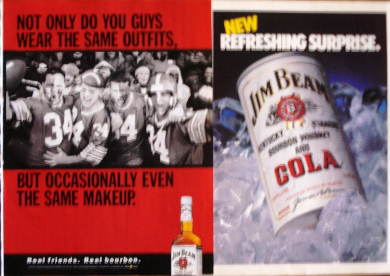 Primary image for Jim Beam Bourboun Whiskey 2 Full Pages Of Original Color Print Ads  Near Mint