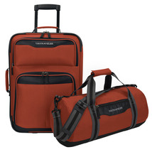 US Traveler Hillstar 2pc Carry-on Expandable Rolling Luggage & Duffel Ba... - $49.99