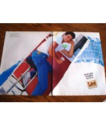 Lee Jeans New Lee Sorm Rider 2 Page Original Color Print Ad 1986 Near Mint - $3.50