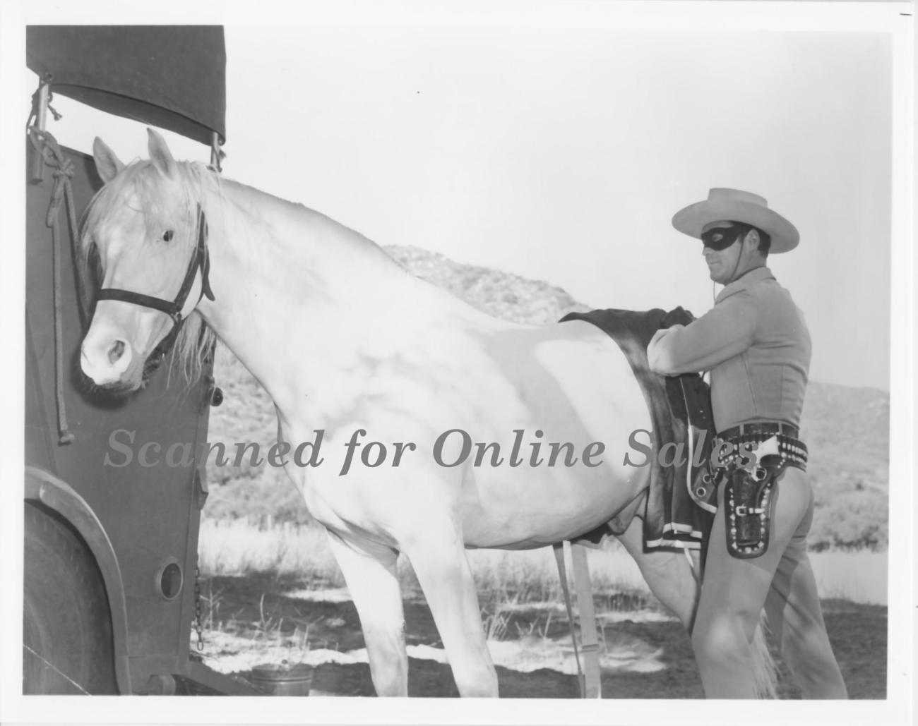 Lone Ranger Removes Blanket from Silver 8x10 Photo