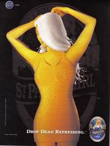 St. Paulie Girl Drop Dead Refreshing Full Page Original Print Ad  - Near... - $6.50