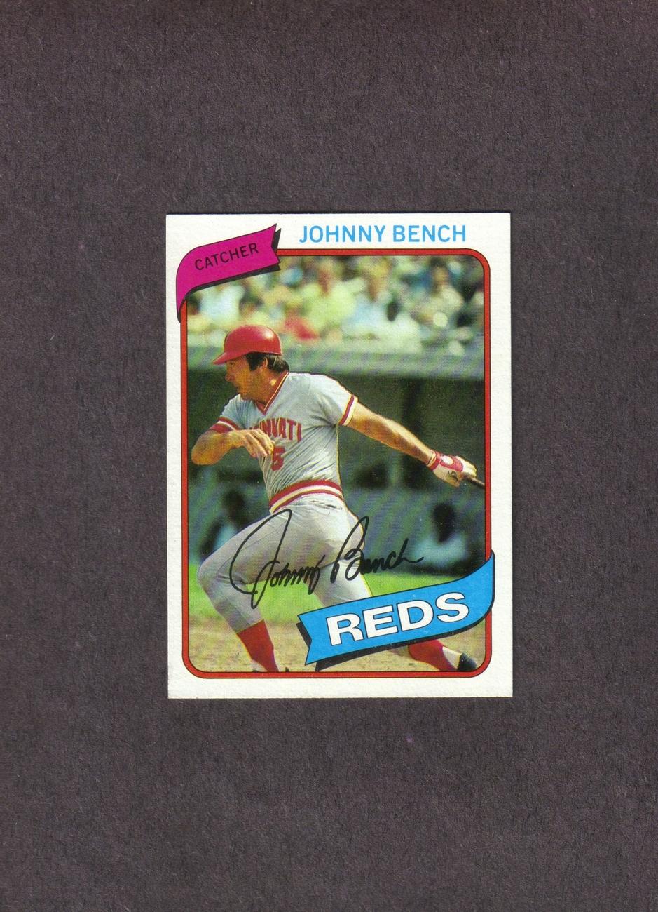 1980 Topps # 100 Johnny Bench Cincinnati Reds