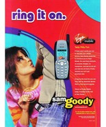 Virgin Mobile Sam Goodyy Full page Color Print ad ring it on Near mint - $3.49