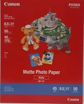"Canon Photo Paper (Matte) for Inkjet - 8.5x11"" (Letter) - 50 Sheets (LOC CR-13) - $14.01"