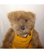 "Gallery Teddy Bear 1996  Stuffed Animal Plush 13"" Ashton Drake Yellow Ov... - $19.99"