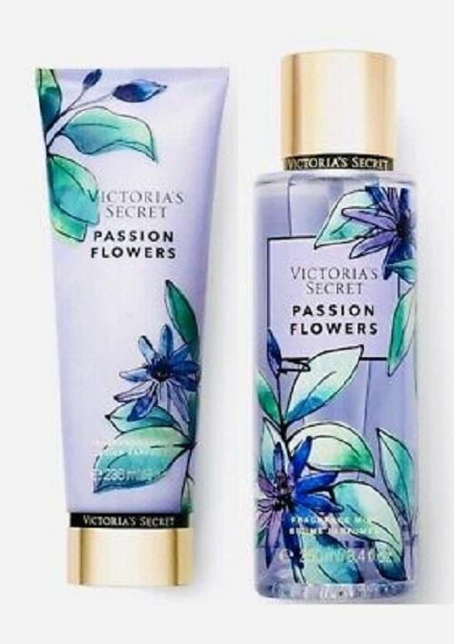 victoria's secret passion flowers fragrance lotion & fragrance mist 2 piece set