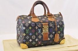 LOUIS VUITTON Monogram Multicolor Speedy 30 Hand Bag M92642 LV Auth 7040 - $720.00