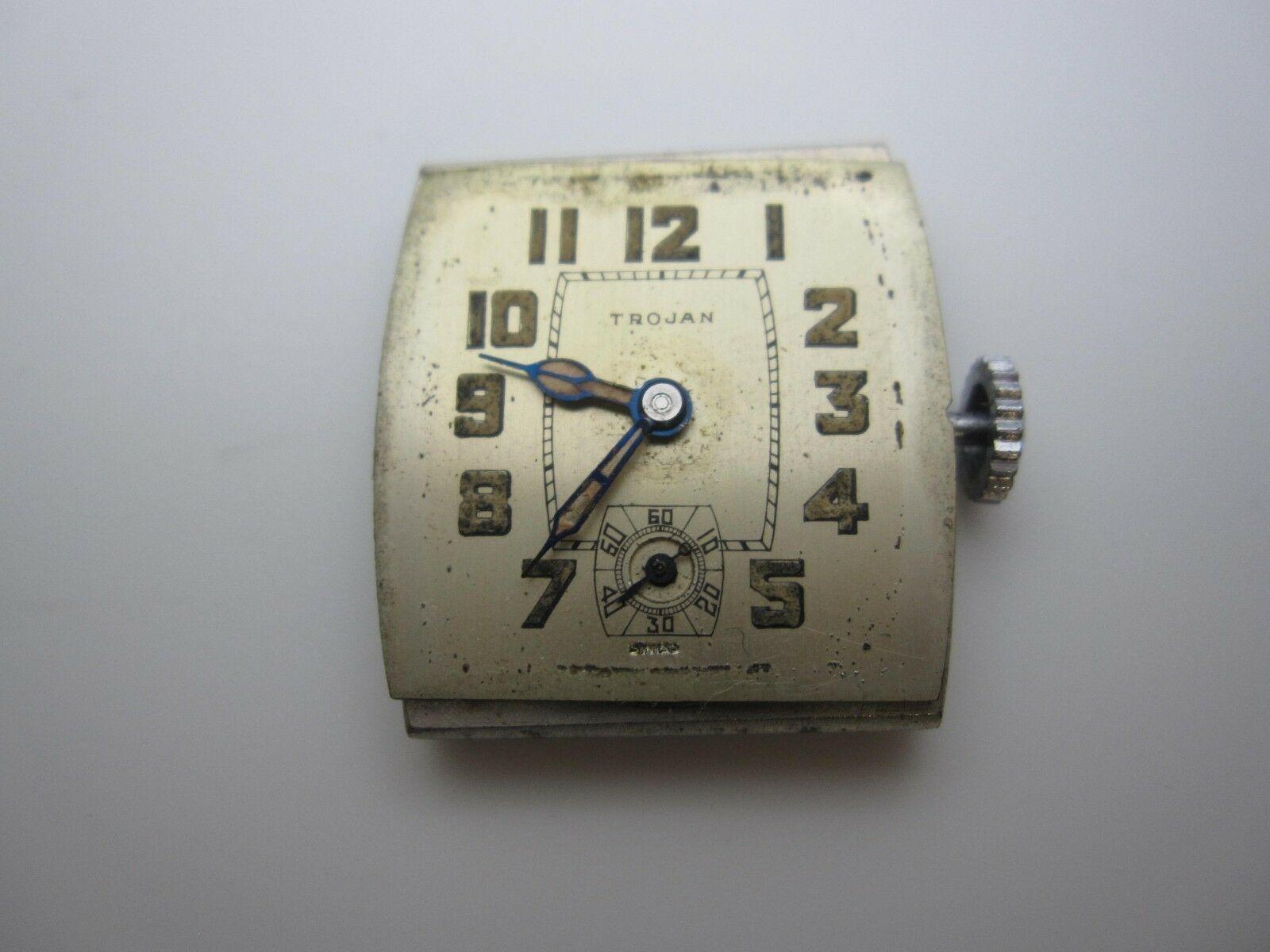 Vintage Trojan American Standard 6 Jewel Swiss Hand Wind Analog Dial Watch(A641)