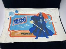 Star Wars VINTAGE 1980 Pillow Case Empire Strikes Back Darth Vader & Bob... - $28.98
