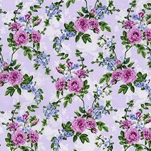 Clearance Sale~Beverly Park ~Small Hydrangeas~Cotton Fabric by RJR Fabrics - $13.70