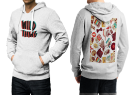 Wild Thing  White Cotton Hoodie For Men - $39.99