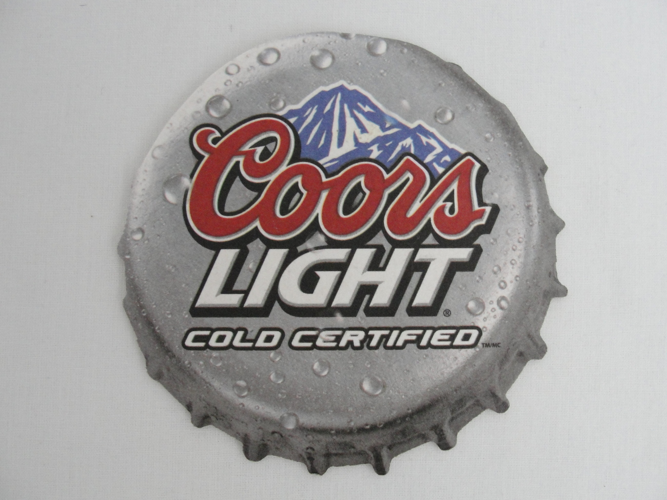 Coaster Coors Light Cold Certified Beer One and similar items