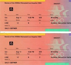 Two 1984 USA Olympic Wrestling Ticket Stub Anaheim Convention Center Aug... - $39.59