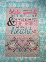 Christian Wall Hanging 12 x 14 Delight Yourself in the Lord Psalm 37:4 - $45.00