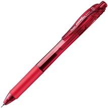 Pentel Knock Gel Ballpoint Pen Energel X, 0.5mm Needle Tip Ink, Red (XBL... - $7.68