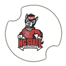 NCSU ThirstyStone 2 Pack Car Auto Drink Coaster North Carolina State Uni... - $9.49
