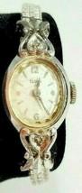 Vintage Elgin Winding Women's Wrist Watch Dainty Antique Diamond 10K RGP - $43.53