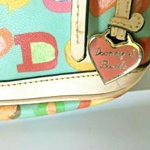 Dooney & Bourke Small Shoulder Bag Doodle Logo Blue w/ Cream Signature Purse - $16.82