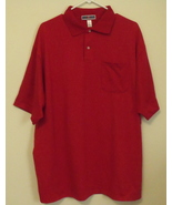 Mens Jerzees NWOT Red Short Sleeve Pocket Polo Shirt Size XL - $15.95