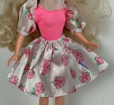 Vintage TCFC Peppermint Rose Doll With Flower Skirt Bodysuit Top 1986 - $15.99